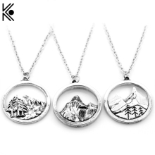 Dropshipping Lovely Fashion mountain necklace nature pendant Lover Gift Live the simple life cheaper price for men women jewelry