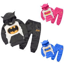 Children clothing set 2017 Autumn baby girls clothes sets  Fashion Kids Boys Winter Hoodie+Pants Clothes sets kids 2pcs suits