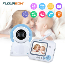 Floureon Wireless Baby Monitor With Security Baby Camera Night Vision 3.5'' LCD Baba Electronica Audio 2 Way Talk Video Monitor(China)
