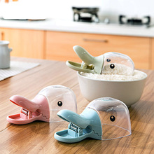 1PC Cute Creative Plastic Duck Head Shape Water Rice Spoon Bag Seal Clip Kitchen Tool Multifunction