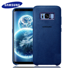 SAMSUNG Galaxy S8 S8 plus Case cover 100% Original Suede all-inclusive Anti-fall leather luxury case for s8 plusflip phone shell(China)