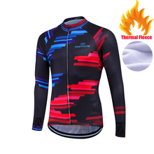 Winter 2017 Long Sleeve Thermal Fleece Keep Warm Cycling Jersey Men DH Clothing Bicycle Maillot Ciclismo Bike Clothes #WFML12(China)
