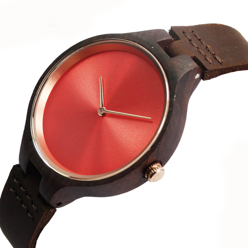 Fashion Wooden Womens Quartz Wristwatch For Girlfriend Gifts With Genuine Leather straps<br><br>Aliexpress