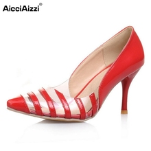 Size 30-47 Women Stiletto High Heels Shoes Woman Pumps  Fashion Pointed Toe Wedding Party Shoes Brand Heeled Footwear