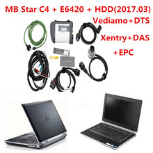 2017 Best Quality Full Chip MB STAR C4+E6420 I5 4GB with 2017.09v HDD Xentry/dts/Vediamo For Mercedes B-enz Diagnostic Tools DHL