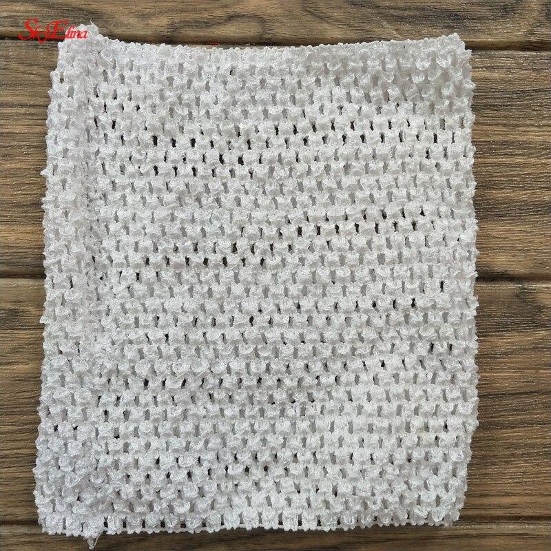 20  23 cm Children Handmade Wrapped Chest Elastic Baby Girl Crochet Tube Tops Wide for Tulle skirt DIY Dress material 5Zsh939 (62)