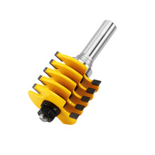 1PC 1/2 inch Shank Rail and Stile Finger Joint Glue Router Bit Cone Tenon Woodwork Cutter Power Tools