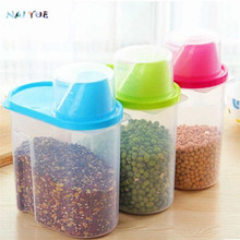 NAI YUE 3 Colors Useful 1.9L Plastic Kitchen Food Storage Boxes Cereal Grain Bean Rice Storage Container Box Case High Quality
