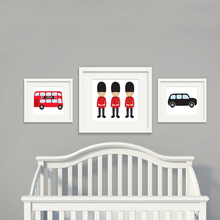 London Bus Theme Canvas Painting Nursery Wall Art Subway Posters and Prints Pictures for Kids Living Room Home Decor No Frame