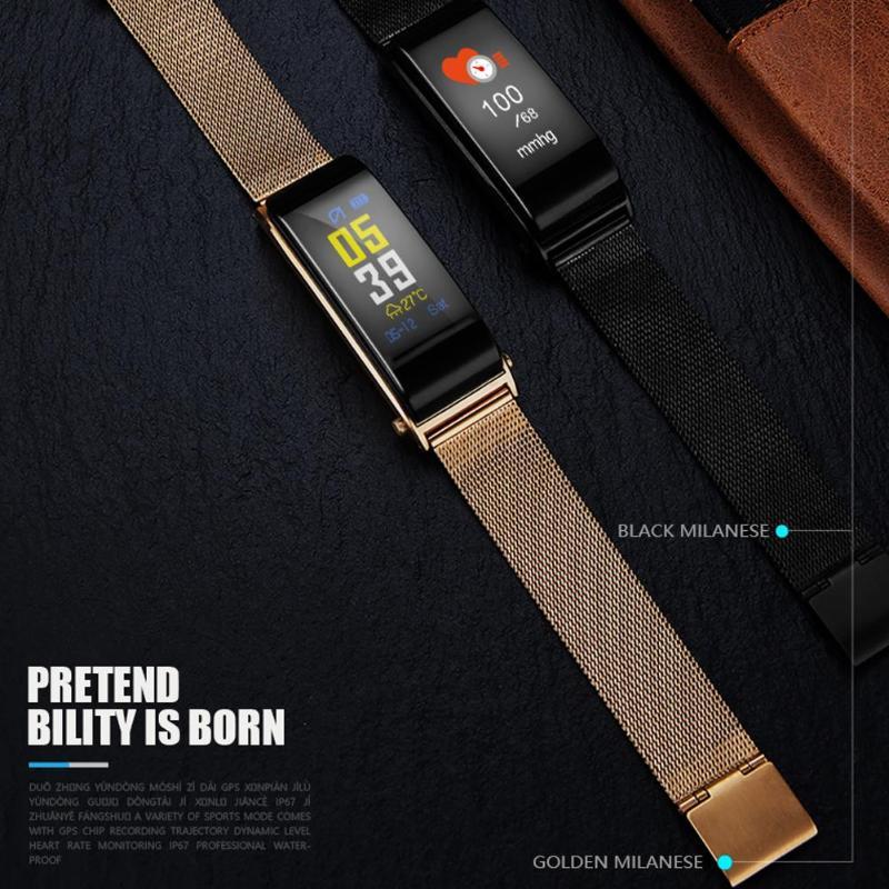 ALLOYSEED Bluetooth Smart Bracelet Watch Handsfree Call Music Player Sport Wristband Headset Fitness Tracker Heart Rate Monitor 9