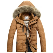 Men's Down Jacket With Natural Fur Hood 90% Duck Down Winter Overcoat Autumn Outwear Winter Coat Free Shipping 9908
