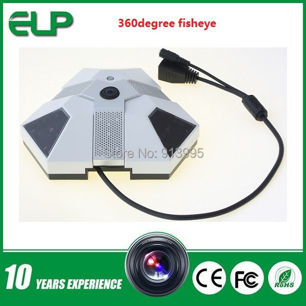 1.3Megapixel indoor p2p Onvif   IP  Panoramic full view  360degree wide angle fisheye lenss security ip camera with PTZ software<br><br>Aliexpress