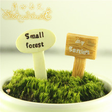 Mini Resin Indication Board Fairy Garden Miniatures Kawaii Home Garden Destination Mini Garden Accessories Miniature Furniture