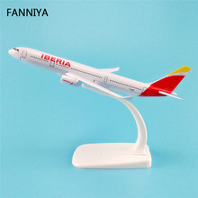 16cm Alloy Metal AIR Spain IBERIA A330 Airways Plane Model Airbus 330 Airlines Airplane Model W Stand Aircraft(China)