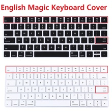 2016 new US EU/Euro Silicone Magic Keyboard Protector Cover for iMac PC Computer English Letter Magic 2 Bluetooth Keyboard Cover