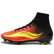 New arrival Men Superfly Football Boots FG High Ankle Soccer Shoes Total Crimson Volt Pink Blast Children Cleats Wholesale(China)