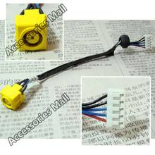 5pcs Free Shipping New Laptop DC Power Jack with cable for Lenovo 3000 N100 N200 C200 DC Jack with cable  DC301000J00