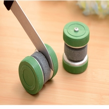 YINGTOUMAN 2pcs/lot Outdoor New Unique Mini Portable Sharpener Knife Scissor Grinder Small Knife Stone Mini Sharpener Gadgets