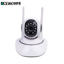 Antscope 720P HD Double Wifi IP Camera 355 Degree Rotation Night Vision Network CCTV Camera P2P Onvif(China)