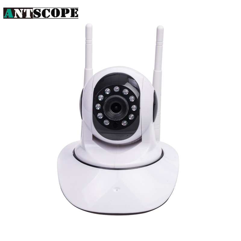 Antscope 720P HD Double Wifi IP Camera  355 Degree Rotation Night Vision Network CCTV Camera P2P Onvif<br>