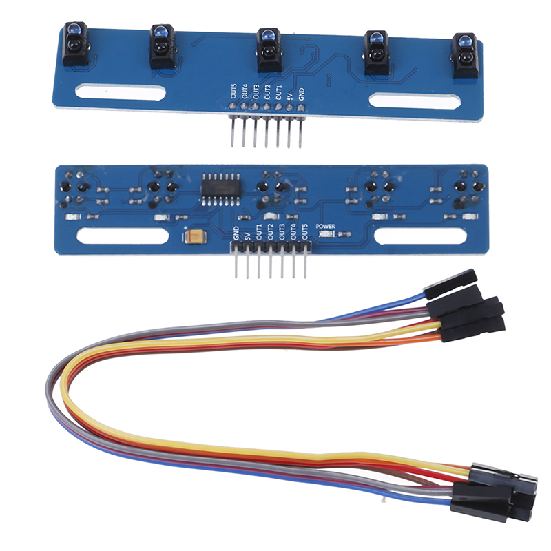 High Quality TCRT5000 KIT 5 Way/road IR Photoelectric Switch Barrier Line Track Module 1