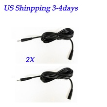 2Pcs 10ft DC 5V 2A Extension Power Cable Cord 3M 3.5*1.35 For Foscam Wanscam IP Camera (Black)