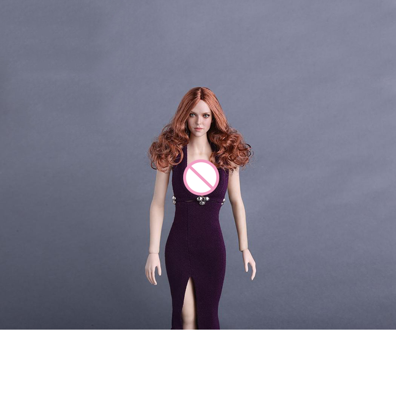 1/6 GC009 A Amanda Seyfried Head Modelwith Red Curly Hair Fit 12 Female Figure Body Doll<br>