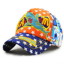 children 5 panel cartoon shark snapback baseball cap kids hip hop summer hat boy girl pink snapback bone casquette hat(China)