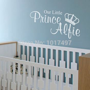 Free shipping Our Little Princess / Prince Wall Stickers For Kids , personalised wall stickers with kids customized name ,C2071
