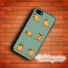 Capa Pug Yoga Dog Design Case for iPhone 7 6 6S Plus 5S SE 5 5C 4S 4 Case Cover for iPod Touch 6 5 Case.