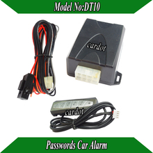 passwords car alarm system ,working by passwords input arm or disarm,valet mode,no arm,manual/auto disarm mode,car engine off