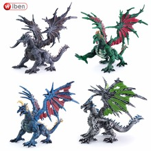 Wiben Dragon Simulation Dinosaur Toy Figure Vinyl Model Plastic Assembly Puzzle Dragon Toys for Children
