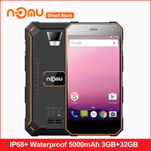 "Original Nomu S10 Pro IP68+ Waterproof 5000mAh MTK6737T Quad Core Android 7.0 Mobile Phone 5.0""HD 3GB RAM 32GB ROM Smartphone(China)"