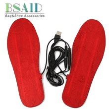 BSAID USB Electric Heated Powered Insoles For Shoes Boots Keep Warm Feet Care Shoe Inserts Men Women Winter Thermal Pad Washable(China)