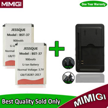 1Lot= 2PCS 900mAh BST-37 BST37 Battery +1PC Charger For Sony Ericsson W800i W810i K750 K610i D750i Z520i K200i K220i T280i W700(China)