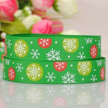(6 designs) 16mm printed grosgrain ribbon------Xmas tree,snow,gloves,red green-------best partner for gift box(China)