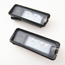 ZUCZUG Qty 2 Car LED License Plate Light Lamp 12V For VW CC Eos Polo 6R Amarok Golf Cabrio MK7 Scirocco Passat 3C 35D 943 021 A