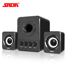 SADA Wired Combination speaker suitable for desktop computer  mobile notebook computer speaker USB 2.1 bass cannon 3W PC speaker