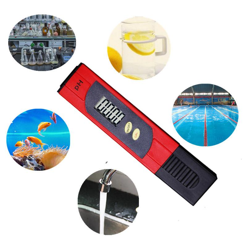100pcs by dhl fedex Digital 0.01 PH pen type Tester Meters ForMeasurement Instruments Aquarium Water Analyzers 8