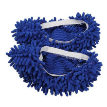 Popular 1Pc blue Chenille Floor Dust Cleaning Slippers Mop Wipe Shoe Cover Mophead Free Shipping(China)