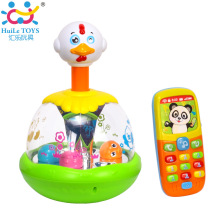 Kids Intelligent Music Mobile Phone Jumping Chick Child Puzzle Toys for 6M+ Babies 959&956(China)