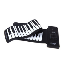 Flexible Piano 61 Keys Electronic Piano Keyboard Silicon Roll Up Piano Sustain Function USB Port with Loud Speaker