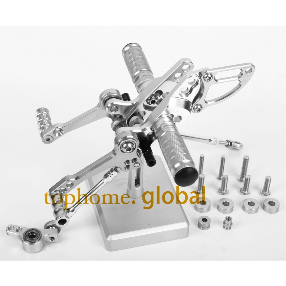 Motorcycle Parts CNC Foot Pegs For DUCATI STREETFIGHTER 848 Silver Color Rear Set<br><br>Aliexpress