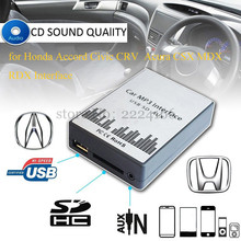 Free shipping USB SD AUX MP3 music Adapter for Honda Accord Civic CRV Acura CSX MDX RDX Interface,Simple installation.auto parts