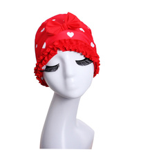 Hot Sale Women Sport Swimming Cap Lady's Bathing Elasticated Swimming Hat Butterfly Lace Long Hair Large Comfortable Swim Caps(China)