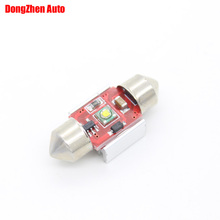 1X Auto SV8,5 31mm 1 LED Chips C5W C10W Car Festoon Dome Light Wedge Reading Light Source Interior lighting Xenon Lamp Bulb