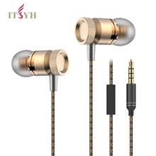 In-Ear Earphone Headset With MIC In-line Control metal popular bass Stereo Sound  Earphones For cell phone MP3 MP4 game TW-774