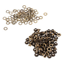 New Style 100pcs/lot Metal Eyelets Grommets 4mm for Leather Craft DIY Scrapbooking Shoes Fashion Practical Accessories(China)
