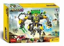 Decool 10489 Hero Factory 6 Hero Star Solider EVO XL MACHINE Robot Action doll building block Children Christmas toys(China)