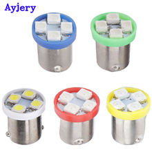 Wholesale !! 1000X BA9S 3528 1210 4 SMD 4 Led Car LED Light Bulb Clearance Lights Car Door Lamps Red Green Amber Blue White 12V(China)